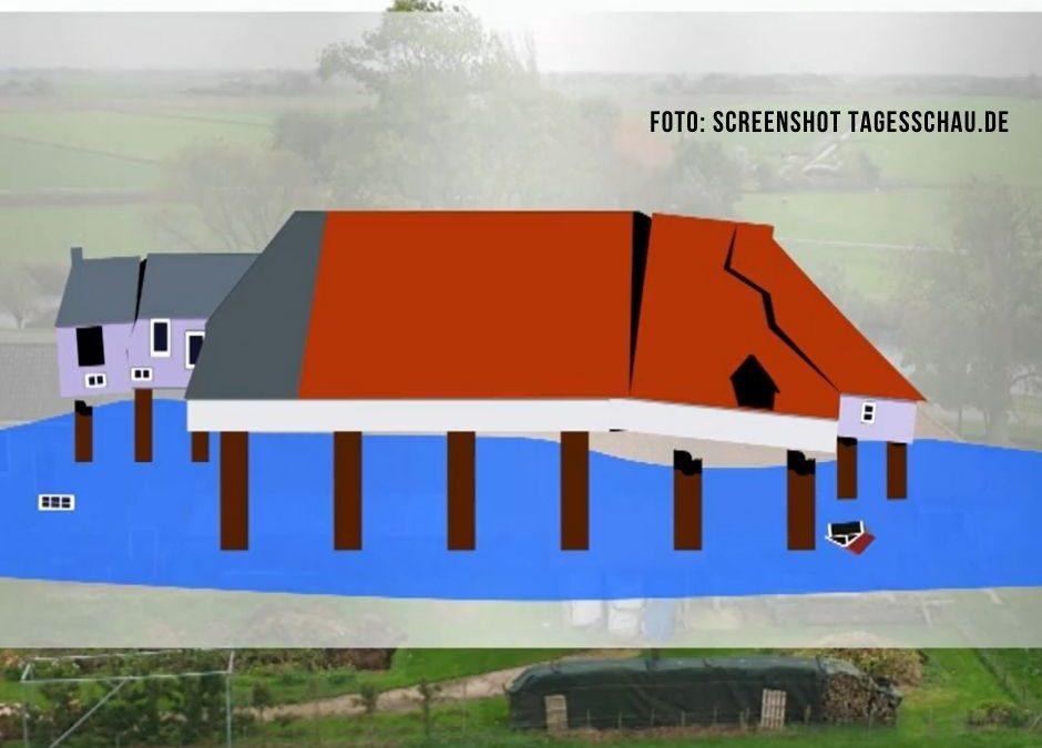 Friesland: Häuser versinken in Trockenheit